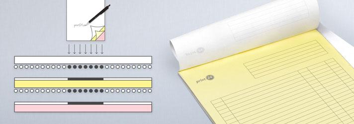 Durchschreibesätze drucken lassen mit 2 oder 3 Lagen - Online-Druckerei print24
