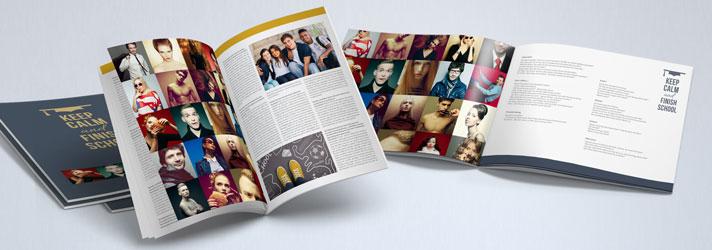 Abizeitungen gestalten im eigenen Design und günstig drucken und binden bei Online-Druckerei print24