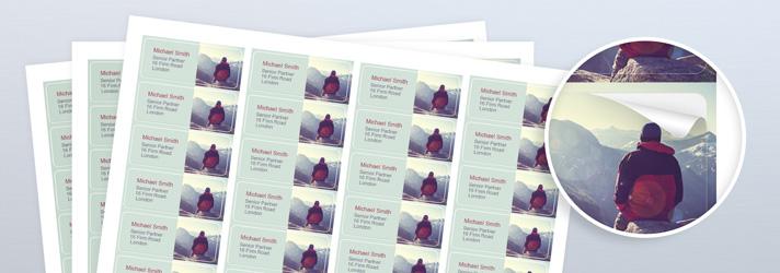 Adressaufkleber drucken lassen auf weißes Haftpapier & Haftfolie - Günstig bestellen bei print24