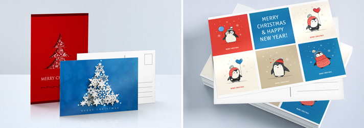 Christmas postcards printing - Online at print24