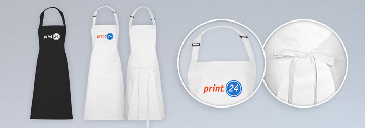 Personalised BBQ aprons printing - Online at print24