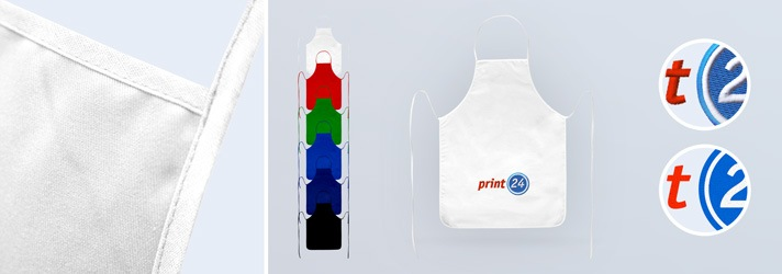 Printing or embroidering on bib aprons