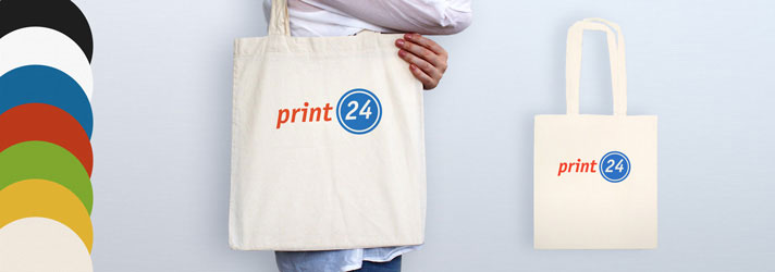 Personalised canvas bags printing - Online at print24