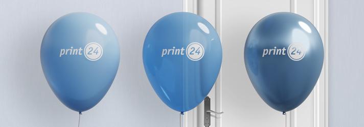 Luftballons bedrucken lassen - Online-Druckerei print24