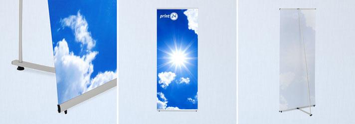 Faire imprimer des L-banners - Imprimerie en ligne print24.com