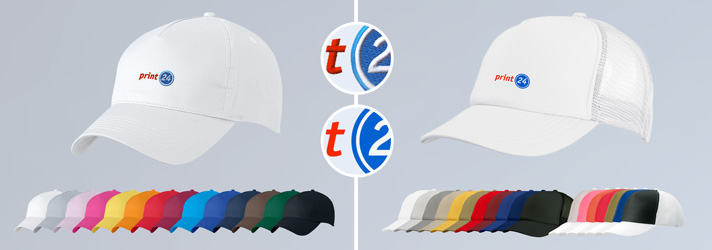 Print  or embroider personalised Baseball caps- Online at print24