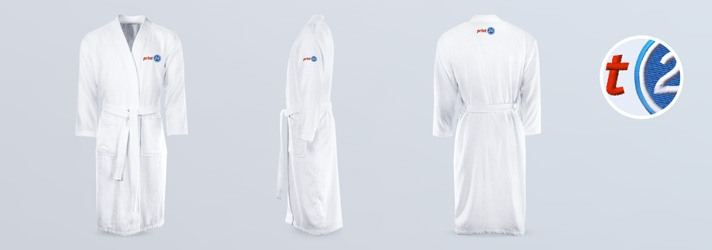 Embroider bathrobes - Online at print24