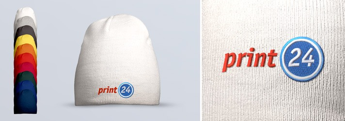 Classic beanies embroidered individually - Online printer print24