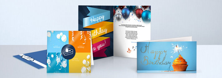 Print individually designed birthday cards - Online at print24