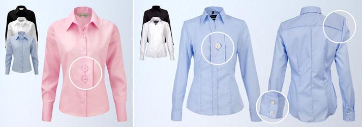 Individuelle Blusen besticken und bedrucken lassen für Damen - Online-Druckerei print24