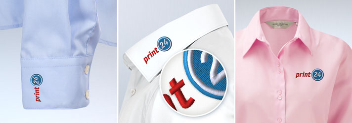 Individually embroidered shirts - Affordable at print24