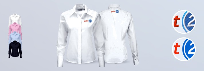Blouse Version Premium - Individual printing or embroidery at print24
