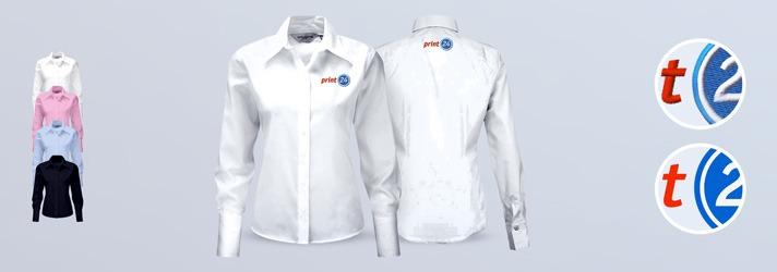 Ausführung Premium-Bluse - Individuell bedrucken oder besticken lassen bei print24