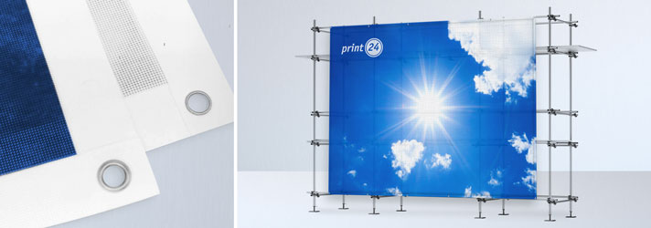 Print XXL-banners or facade banners in different sizes inexpensively online