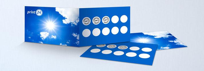 Impresión barata de tarjetas de fidelidad y tarjetas de sellos - Imprenta Online print24