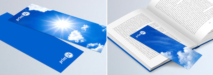 Personalised bookmarks printing in various formats - Online at print24