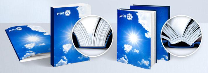 Bücher drucken lassen - Fadenheftung oder Klebebindung - Online-Buchdruck bei print24