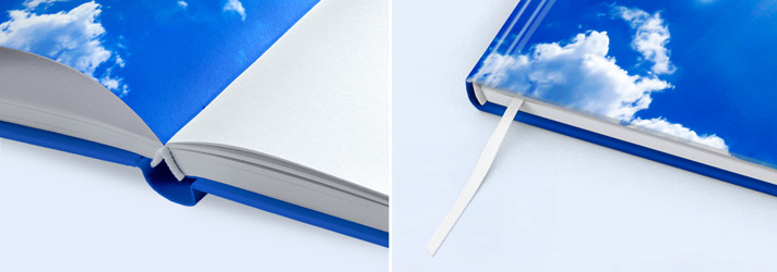 Print books with headband and bound bookmark - Online book printers at print24