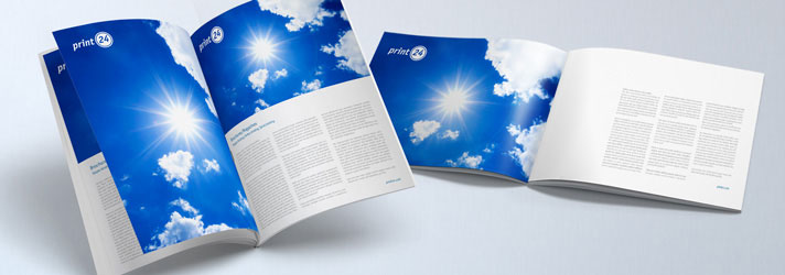 Printing a cheap Brochure Economic with Inkjet - print24 Online printing company
