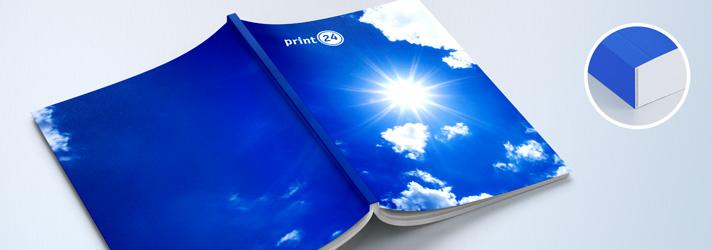 Imprimez en ligne sur print24 des brochures avec reliure parfaite, dos carré collé