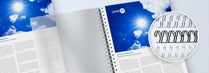 Create brochures with spiral bindings online - Cheap at print24