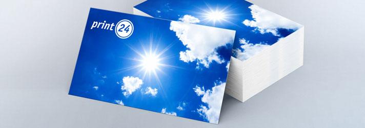 Faire imprimer des cartes de visite personnalisée - À un prix abordable dans l'imprimerie en ligne print24.com