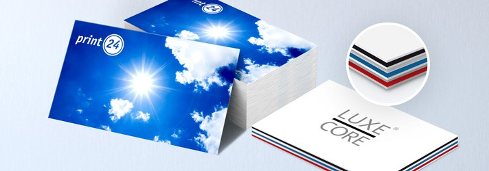 Design your own business cards & have them printed at low cost - Classic or elegant with Luxcore business cards