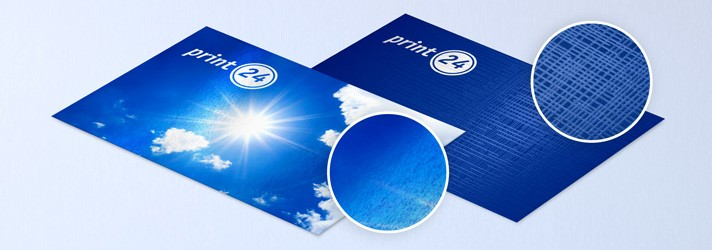 Business cards with lamination gloss or linen structure - Online printers print24
