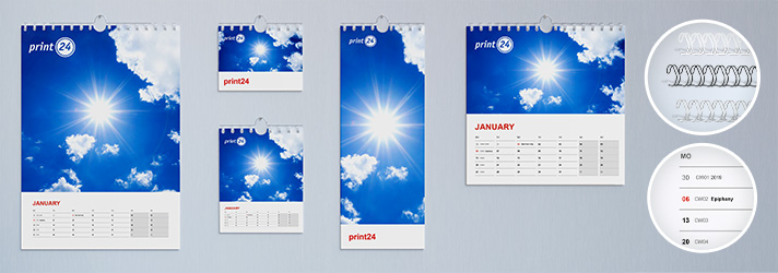 Create year planners and print them online at print24