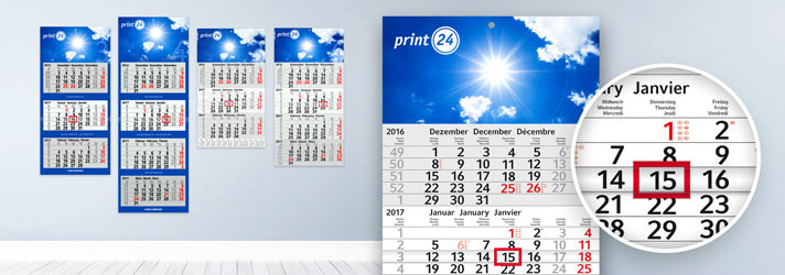 Create calendars online - Cheap at print24