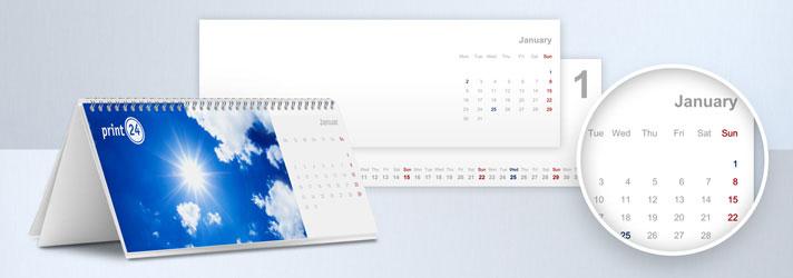 Design calendars and print them online at print24