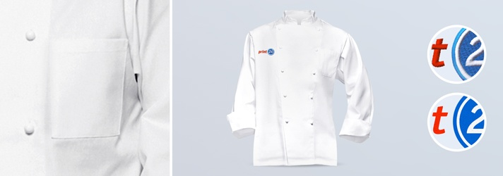 Unisex Chef's Jacket Classic for Men and Women - print or embroider at online print shop print24