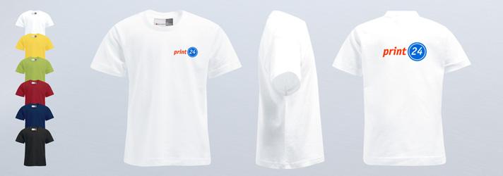 Farbige T-Shirts für Kinder bedrucken lassen - Günstig Online-Druckerei print24