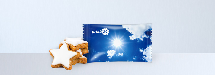 Cinnamon stars as promotional gifts - Online-printers print24