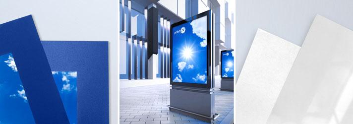 Imprimez des affiches rétro-éclairées pour des abribus ou des caissons lumineux - pas cher en ligne avec print24