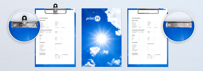 Klemmbretter bedrucken lassen - Online-Druckerei print24