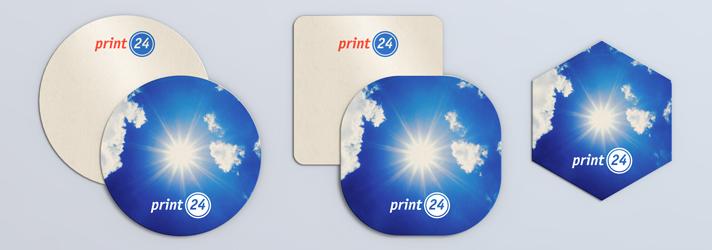 Have coasters printed - print24 online printing