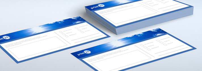 Personalised compliment slips printing - Online at print24