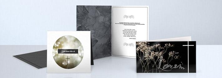 Kondolenzschreiben & Trauerkarten drucken lassen - Online-Druckerei print24