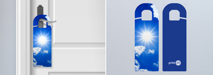 Custom mirror and door hangers printing - Online at print24