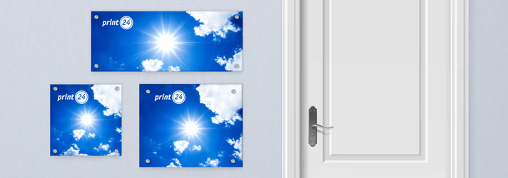 Personalised house name plates and door plaques printing - Online at print24