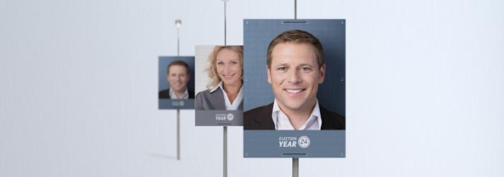 Wahlplakate drucken lassen für Wahlwerbung an Laternen - Online-Druckerei print24