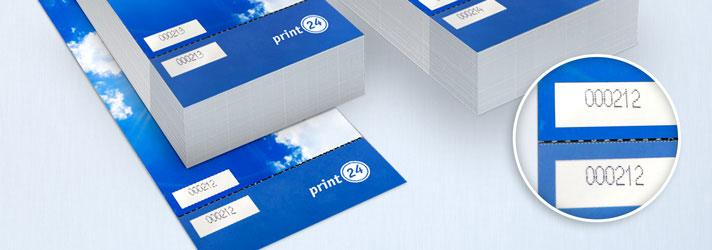 Tickets preiswert drucken lassen - Online-Druckerei print24