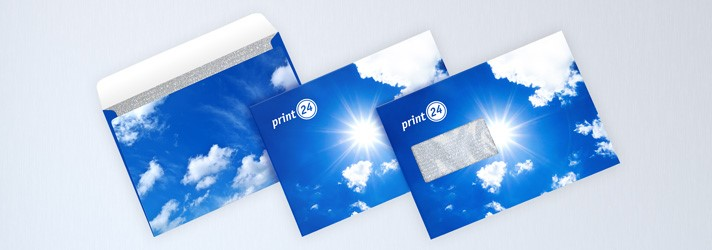 Kuvert online erstellen und professionell drucken in verschiedenen Formaten bei print24