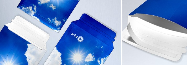 Create and print Cardboard envelopes online in different formats at print24