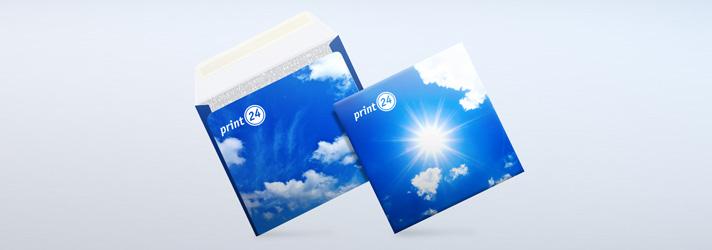Quadratische Briefumschläge bei print24 individuell bedrucken lassen