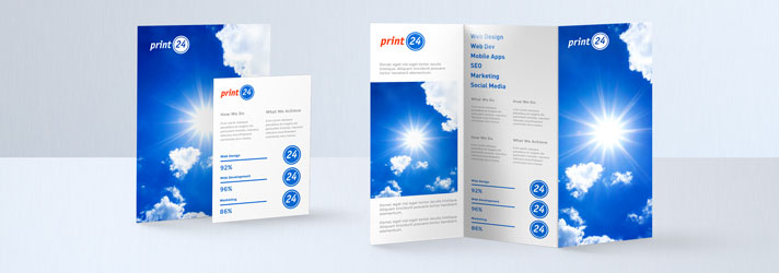 Flyer printing - Online at print24 Irland