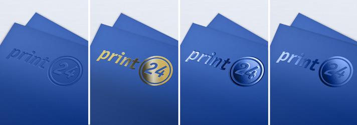Glänzende Flyer mit hochwertiger Druckveredelung - online drucken bei print24