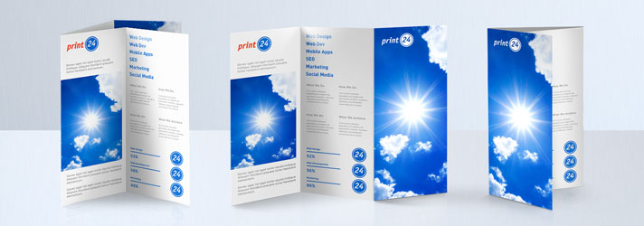 Créer et imprimer des flyers pliés - Les différents types de pli : le pli parallèle double, le pli accordéon, le pli roulé