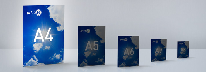 A4 Flyer und Falzflyer drucken lassen - Online-Druckerei print24